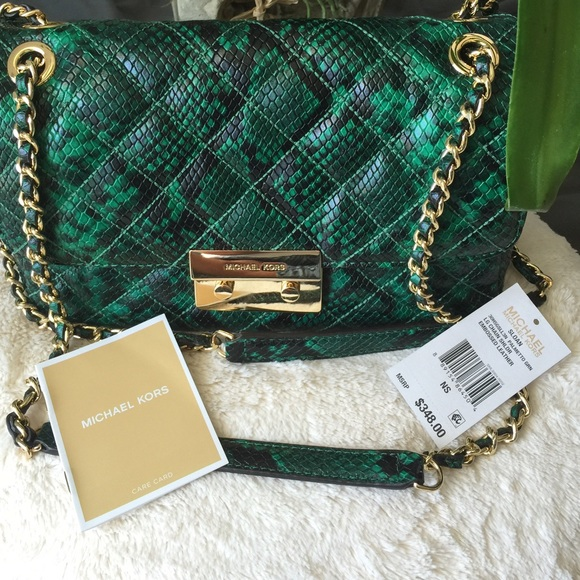 20d6132543c4 🌺Michael Kors Sloan shoulder bag green Python🌺. M_57c5bcd136d5942c55006480