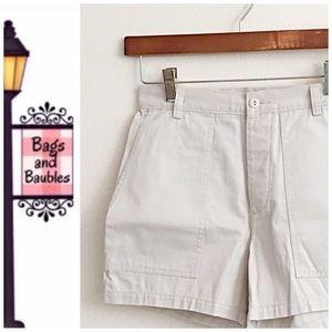 J CREW Khaki Chino Shorts, Size 4 NWOT