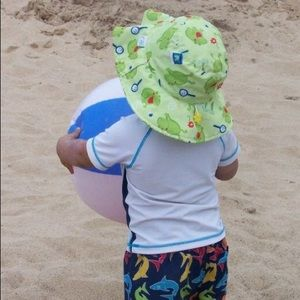 I Play Other - I Love Play Sun Hat Toddler 2 3 4 Frogs