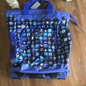 Nursing Bags On Wheels >> Nursing Themed Backpack On Wheels
