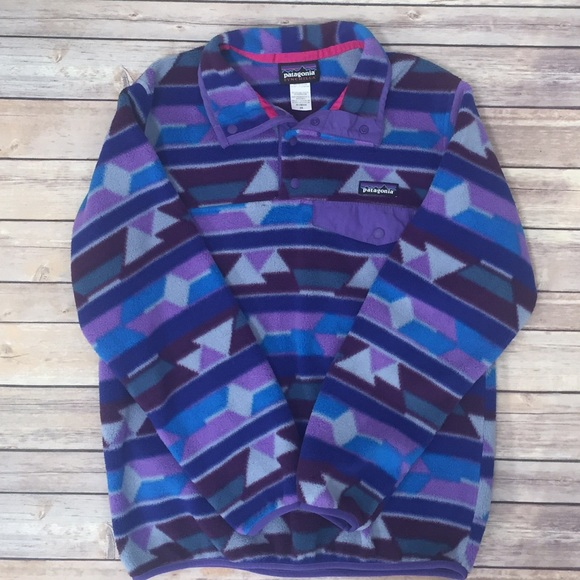 24% off Patagonia Sweaters - PATAGONIA SNAP-T PULLOVER PURPLE ...