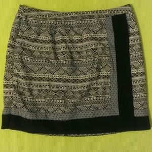 Black and white mosaic pattern skirt