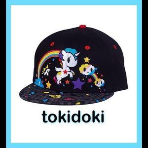 tokidoki Accessories - 🦄TOKIDOKI Unicorno Rainbow Black Baseball Hat🦄