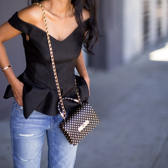 Cameo the Label Tops - NWT Cameo the Label Your Song Black Bustier Peplum