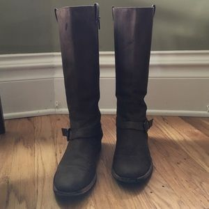 Cole Haan Shoes - Cole Haan Tall Riding Boot in Brown with Buckle 9B