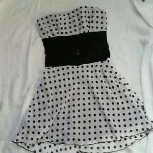 Tripp nyc Dresses & Skirts - Strapless Polka Dot Tripp Swing Dress Rockabilly