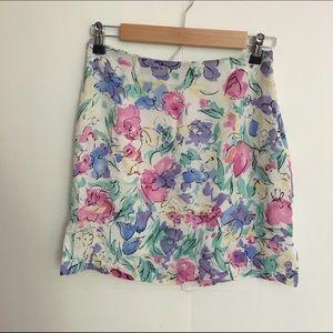 💥100% silk floral skirt