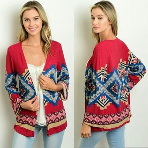 Sweaters - 🎉HP🎉 Tribal Print Cardigan