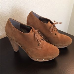 Banana Republic studded suede camel booties