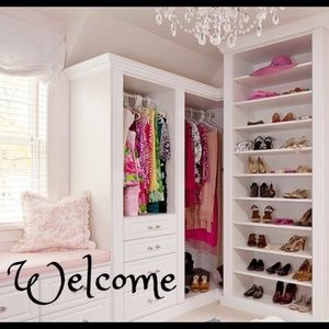Welcome to my closet.