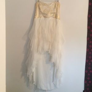 Macy's Dresses & Skirts - Gold and White Homecoming/Prom Dress