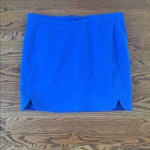 J.Crew Blue Mini Skirt, Wool