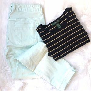 Mint • Skinny Cropped Pants