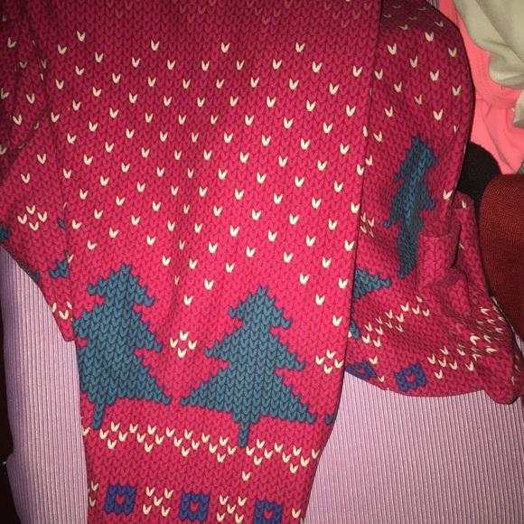 christmas print lularoe leggings