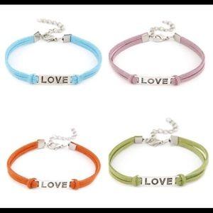 """🔴Boho """"love"""" leather bracelets"""
