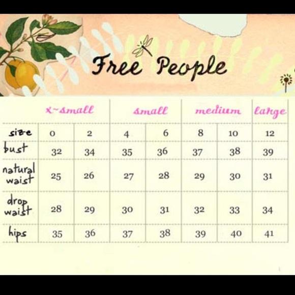 free size chart: Free people free people size chart from a s closet on poshmark