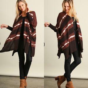 Sweaters - CCO Tie Dye Print Cardigan