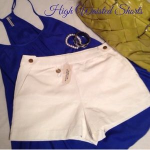 Forever 21 Pants - NWT Cream Dress Shorts
