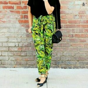 Forever 21 Tropical Palm Pants
