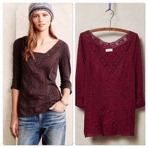 Anthropologie Lace Medley Top