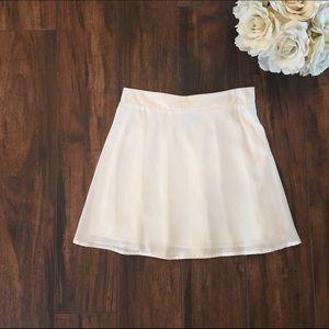 White Tobi Skater Skirt