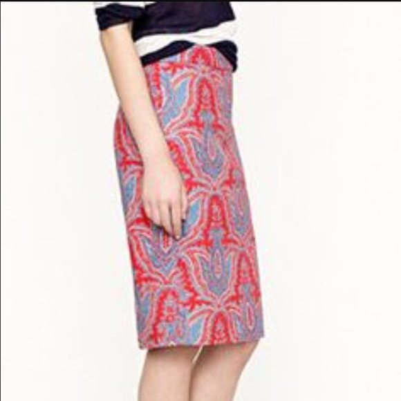53 j crew dresses skirts j crew paisley pencil