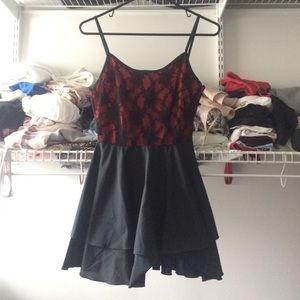 LF Dresses & Skirts - Black and red lace dress