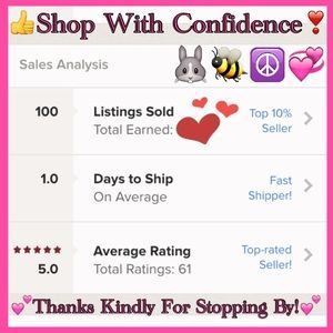 💖👍Shop With Confidence: Current Posh stats!