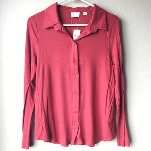 NWT Anthropologie soft button down shirt