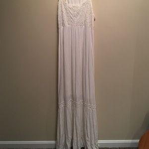 Cream Maxi Lace Dress