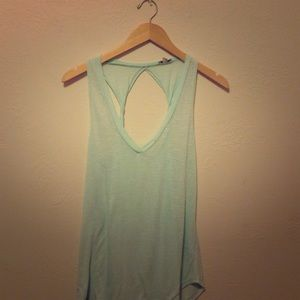 Lily White Tops - Mint tank with open back