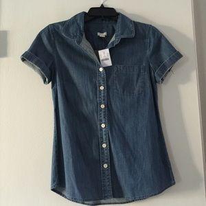 J. Crew Factory Tops - Brand new J crew Jean tee button down shirt