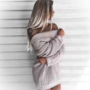 Spellcast Chunky Off Shoulder Sweater