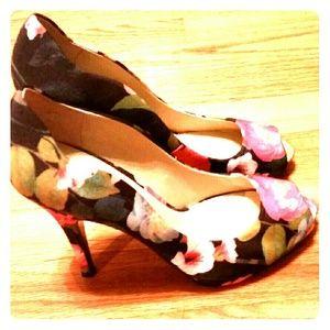 Nine West, open toe heels