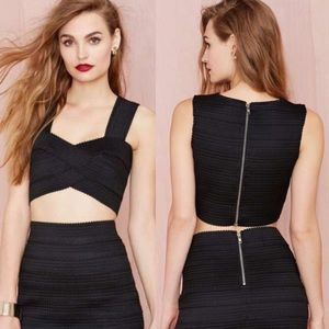 "Moon Collection Tops - ""Moon"" Black Bandage Crop Top"