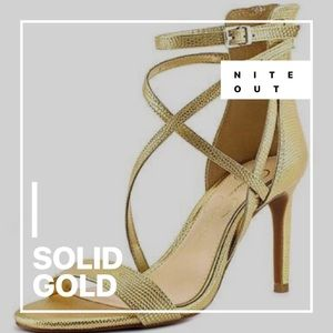 ✅CLEARANCE JESSICA SIMPSON GOLD STRAP SANDAL