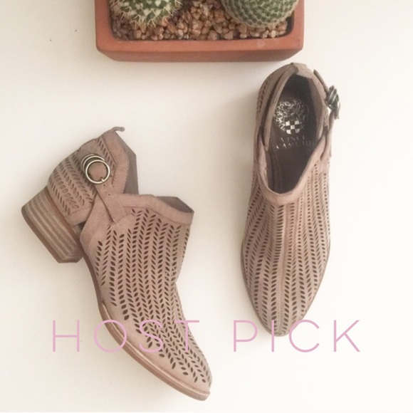 76e93ab5b06a Vince Camuto Perforated Suede Ankle Boots FIRM. M 57e1f56f99086ae71403ce53