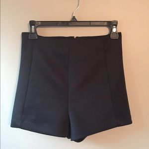 Pants - High black dress shorts