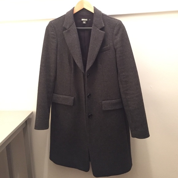 70% off DKNY Jackets & Blazers - DKNY Wool/ Cashmere Coat from