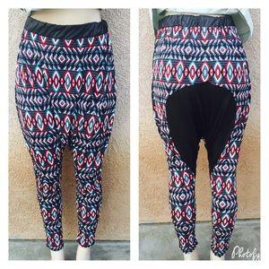 Pants - 🆕 Leather patch harem pants