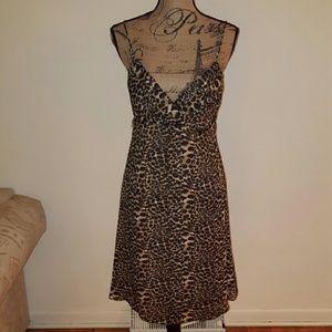 Onyx Nite Animal Print Dress