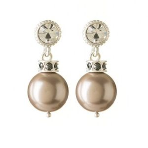 Spartina 449 Jewelry - NWT Royal Drop Earrings - Smoky Pearl
