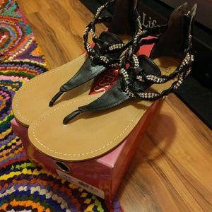 Guess zip sandals