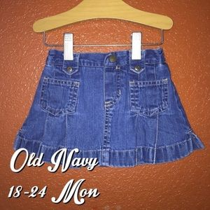 Old Navy Flare Jean Skirt 18-24 Months