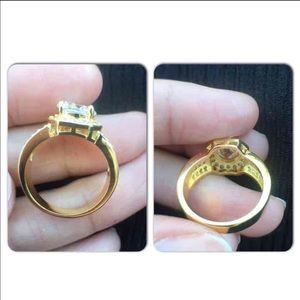 Jewelry - 18K Gold Plated Engagement Ring