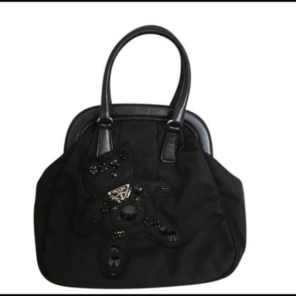 4a5160f55cfe Prada Teddy Bear Black Mini Satchel. M_57c6690cf0137d20b8021aa9