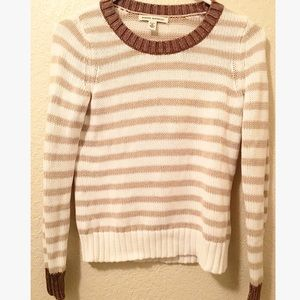 91% off Banana Republic Sweaters - Banana Republic brown & white ...