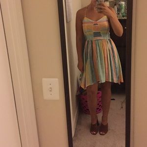 Beachy Colorful Sundress with Racerback