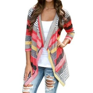 Sweaters - 🆕Multi-colored Stripes Cardigan