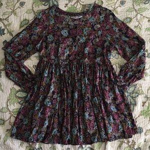 Vintage 90s grunge floral babydoll dress